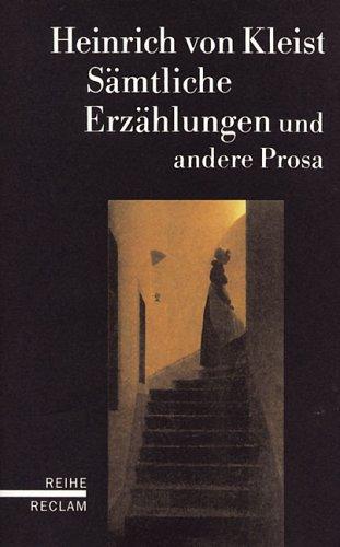 9783150582329: Sämtliche Erzählungen und andere Prosa.