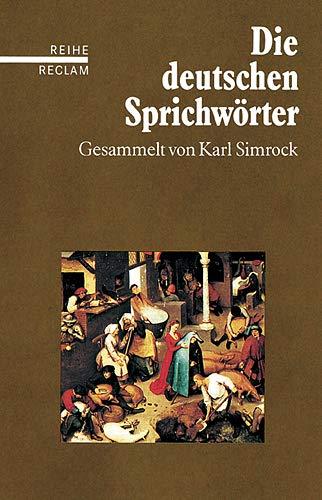 9783150584538: Die deutschen Sprichwörter