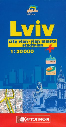 9783155010148: Lviv (Lvov, Ukraine) 1:20,000 Street Map KARTOGRAPHIA