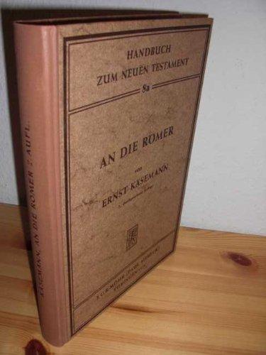 9783161363726: An die Römer (Handbuch zum Neuen Testament ; 8a) (German Edition)