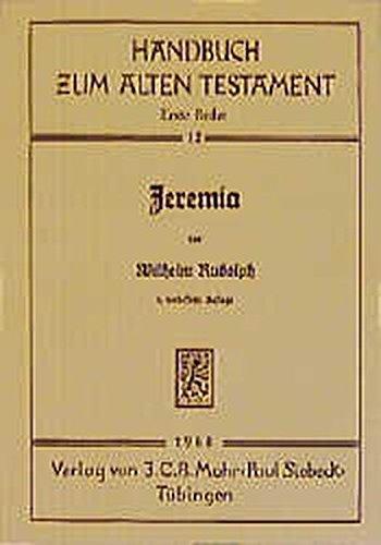 9783161471841: Jeremia (Handbuch Zum Alten Testament)