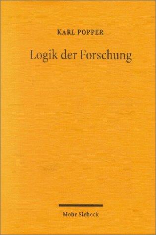 9783161478376: Logik der Forschung. Jubiläumsausgabe.