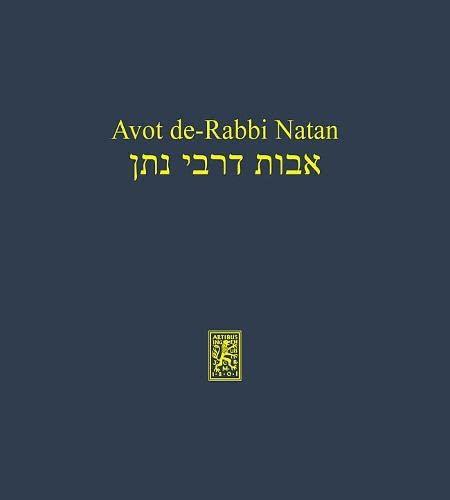 Avot de-Rabbi Natan Synoptische Edition beider Versionen