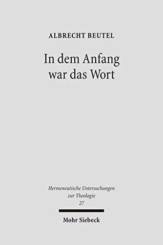 In dem Anfang war das Wort: Albrecht Beutel