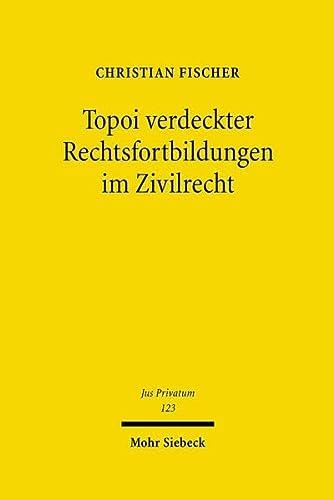 9783161492723: Topoi verdeckter Rechtsfortbildungen im Zivilrecht (Jus Privatum)
