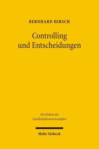 9783161493690: Controlling und Entscheidungen
