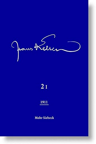 9783161494369: Hans Kelsen Werke: Veroffentlichte Schriften 1911 (2 Halbbande)