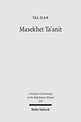 9783161495243: Massekhet Ta'anit: Text, Translation, and Commentary (Feminist Commentary on the Babylonian Talmud)
