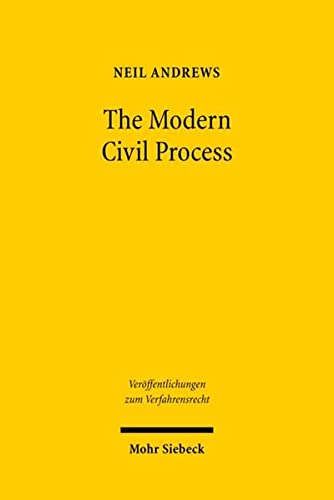 9783161495328: The Modern Civil Process: Judicial and Alternative Forms of Dispute Resolution in England (Veroffentlichungen Zum Verfahrensrecht)