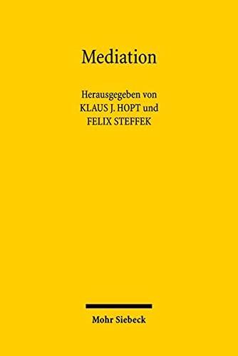 9783161497971: Mediation: Rechtstatsachen, Rechtsvergleich, Regelungen