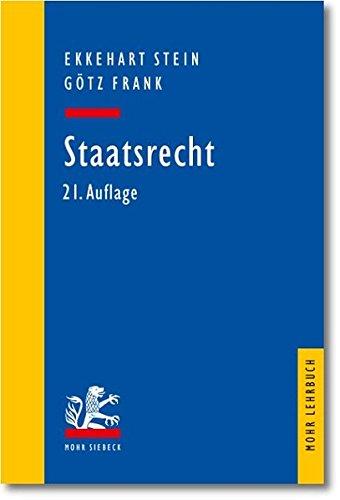 9783161502583: Staatsrecht (Mohr Lehrbuch)