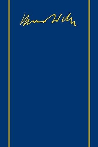 9783161503580: Max Weber-Gesamtausgabe. Band I/22,3: Wirtschaft und Gesellschaft. Recht. XXIX, 813 Seiten