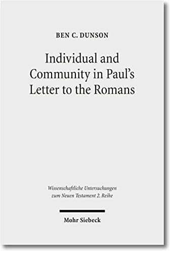 Individual and Community in Paul's Lette