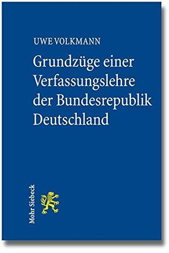 9783161527838: Grundzuge Einer Verfassungslehre Der Bundesrepublik Deutschland