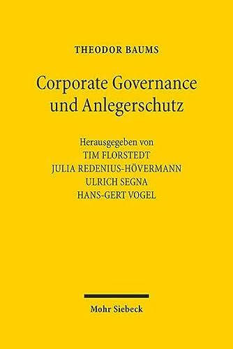 9783161527869: Corporate Governance und Anlegerschutz: Ausgewählte Beiträge