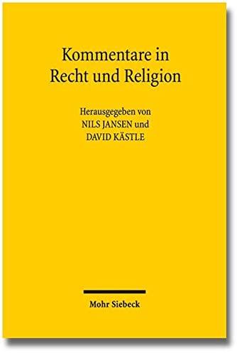 9783161528798: Kommentare in Recht und Religion (German Edition)