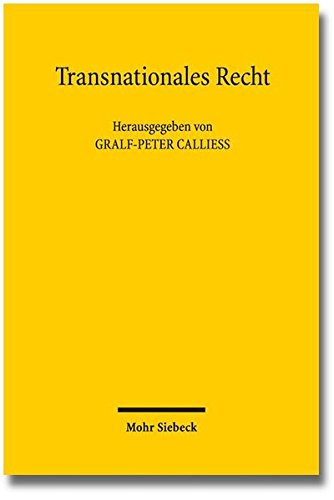 9783161529580: Transnationales Recht: Stand und Perspektiven