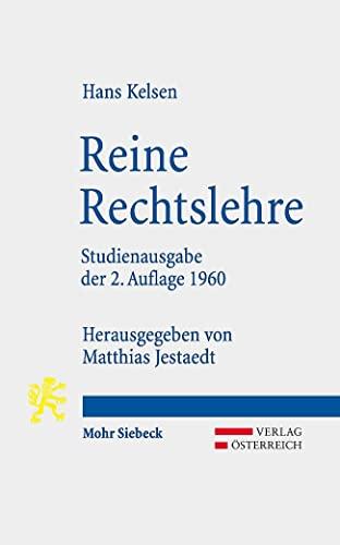 Reine Rechtslehre. Studienausgabe der 2. Auflage 1960.: Kelsen, Hans: