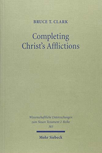 9783161533341: Completing Christ's Afflictions: Christ, Paul, and the Reconciliation of All Things (Wissenschaftliche Untersuchungen Zum Neuen Testament 2.Reihe)