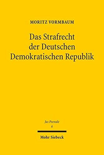 9783161537783: Das Strafrecht der Deutschen Demokratischen Republik (Jus Poenale)