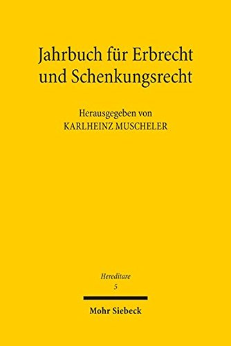 9783161540301: Hereditare - Jahrbuch für Erbrecht und Schenkungsrecht: Band 5 (Hereditare - Jahrbuch Fur Erbrecht Und Schenkungsrecht)
