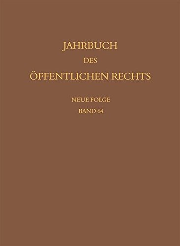 Jahrbuch des öffentlichen Rechts der Gegenwart. Neue Folge: Susanne Baer
