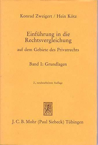 9783166447025: Einführung in die Rechtsvergleichung auf dem Gebiete des Privatrechts (German Edition)
