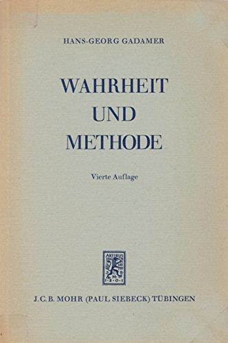 9783168339120: Wahrheit und Methode. Grundzuge einer philosophischen Hermeneutik. 3., erweiterte Auflage (German Edition)