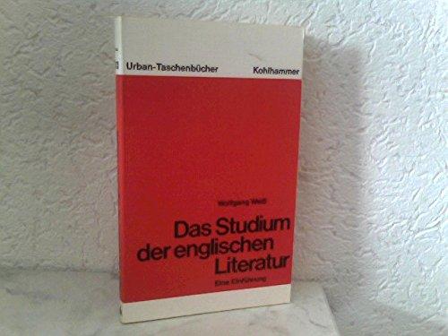 das studium der englischen literatur. eine einführung. urban-taschenbücher band 303 - weiß, wolfgang