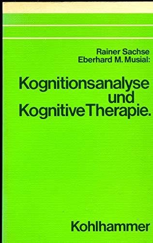 9783170072961: Kognitionsanalyse und kognitive Therapie
