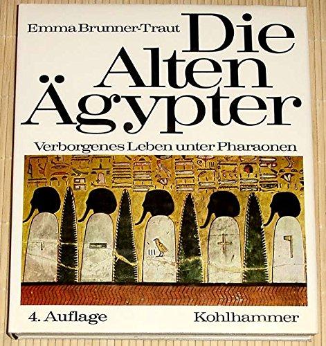 9783170096646: Die alten �gypter. Verborgenes Leben unter Pharaonen