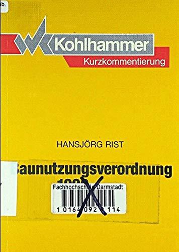 9783170109643: Baunutzungsverordnung 1990. Kurzkommentierung