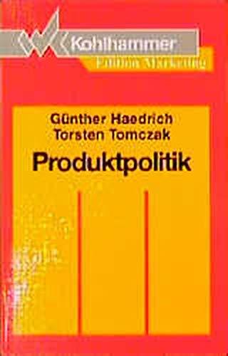 9783170123472: Produktpolitik