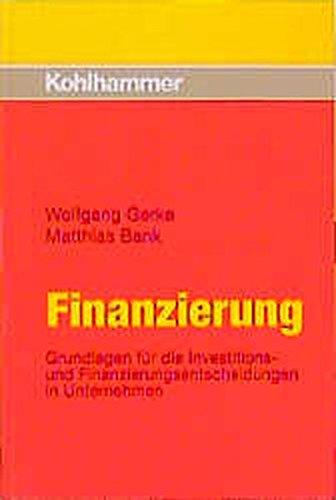 9783170137660: Finanzierung (Livre en allemand)