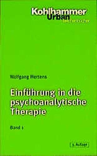 9783170156890: Einführung in die psychoanalytische Therapie 1.