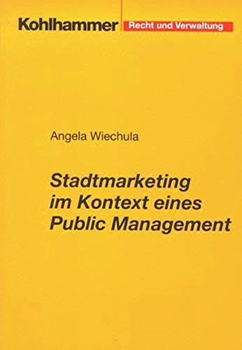 9783170162891: Stadtmarketing im Kontext eines Public Management.