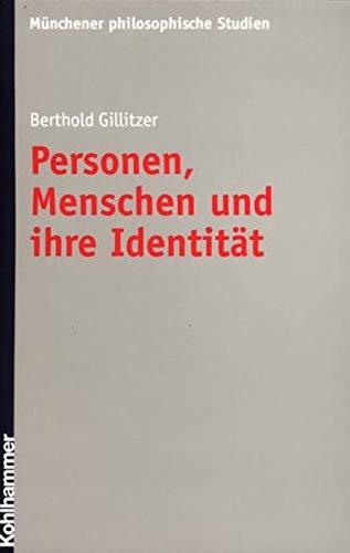 9783170170957: Personen, Menschen und ihre Identität