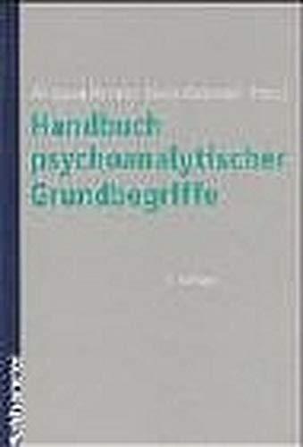9783170172449: Handbuch psychoanalytischer Grundbegriffe