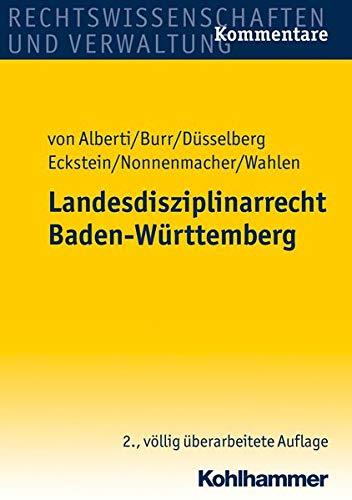 Landesdisziplinarrecht Baden-Württemberg: Dieter von Alberti