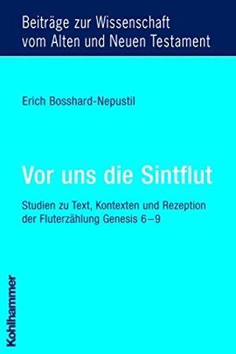 Vor uns die Sintflut: Erich Bosshard-Nepustil