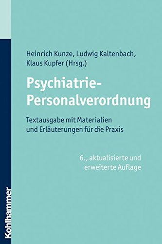 9783170210813: Psychiatrie-Personalverordnung: Textausgabe mit Materialien und Erl�uterungen f�r die Praxis