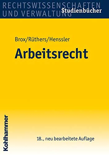 9783170215153: Arbeitsrecht (Studienbuecher) (German Edition)