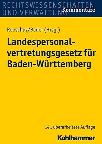 9783170248649: Landespersonalvertretungsgesetz Fur Baden-wurttemberg