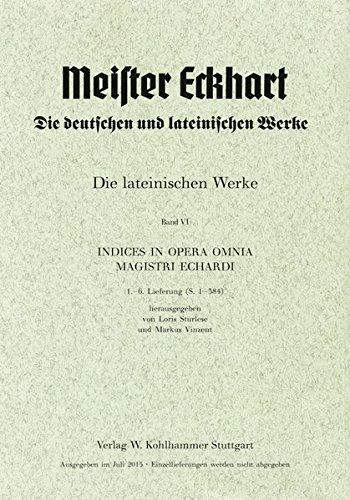 9783170290013: Meister Eckhart. Lateinische Werke: Band 6: Register. Lieferung 1-3