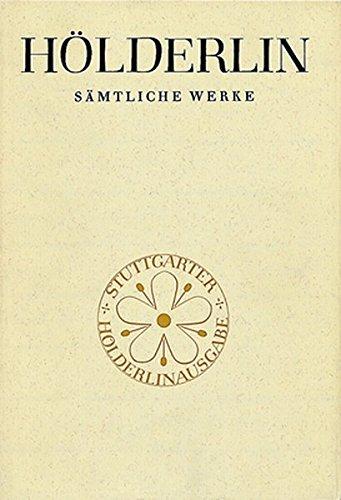 Sämtliche Werke (Grosse Stuttgarter Ausgabe), Band 2, Teil 2: Gedichte nach 1800 - Lesarten.: ...
