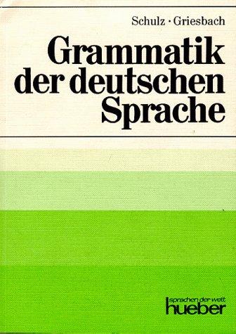 9783190010110: Grammatik Der Deutschen Sprache (German Edition)