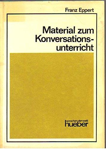 9783190010967: Material Zum Konversationsunterricht