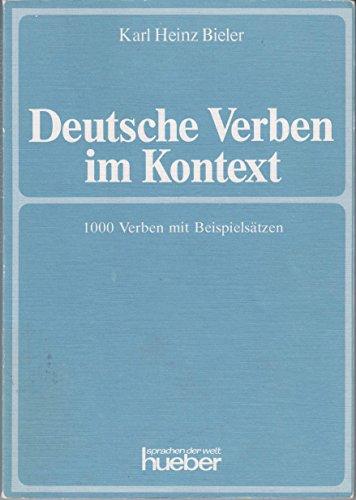 9783190013340: Deutsche Verben im Kontext