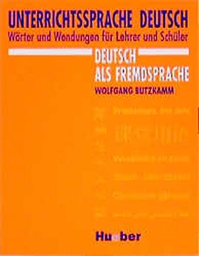 9783190015863: Unterrichtssprache Deutsch
