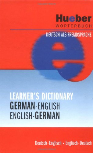 9783190017362: Hueber Dictionaries and Study-AIDS: Hueber Learner's Dictionary - German-English/English-German